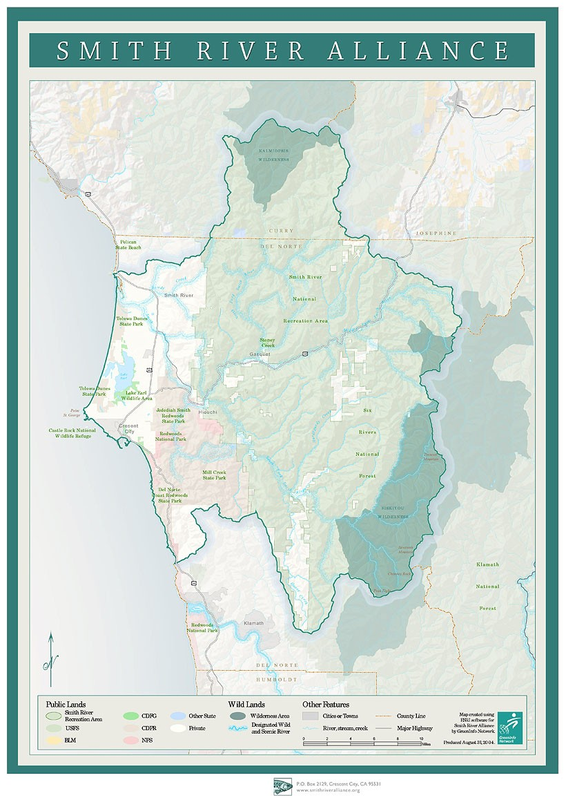 smith river california map Smith River Watershed Map Smith River Alliance